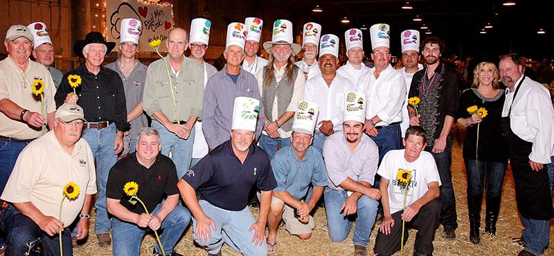 """Real Men Cook"" Benefit at Flag Is Up Farms"